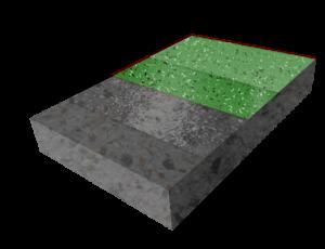 Тонкослойное покрытие с чипсами